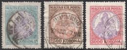 Hungary, 3 Stamps 1923-1925, Sc # 383-385, Mi # 377,401,378, Used - Usati