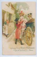 PUBLICITE SOUVENIR DE LA BELLE JARDINIERE, PARIS - Homme Aidant Femme à Descendre Du Carosse - Pubblicitari