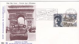FDC FRANCE N°Yvert 1607  (LECLERC) Obl Sp FLAMME Ill 1er Jour  RR - FDC