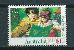 1992 Australia $1,00 Christmas,kerst,weihnachten,noël Used/gebruikt/oblitere - 1990-99 Elizabeth II