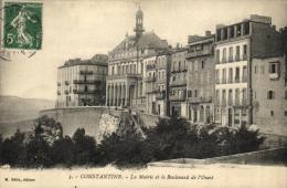 75688 - Algérie     Constantine    La Mairie Et Le Boulevard De L'Ouest - Constantine