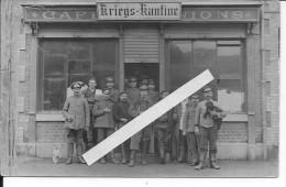 France Belgique Café Réquisitionné En Kriegskantine Chiens Mascottes 1 Carte Photo 1914-1918 14-18 Ww1 WwI Wk - Guerra, Militares