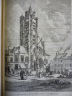 Eglise Saint Maclou , A Pontoise , Seine Et Oise , Gravure De Smeeton Dessin Laborne 1880 Avec Texte - Documents Historiques