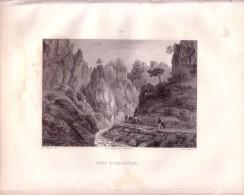 Ollioules, Les Vaux (Var) - Gravée Sur Acier Par Aubert D'après Ricois - 1851 - FRANCO DE PORT - Estampes & Gravures