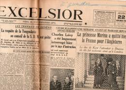 Excelsior Du Jeudi 22 Novembre 1934 - Journaux - Quotidiens