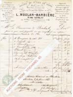 Facture 1874 VERVIERS - L. MOULAN-BARBIERE - Magasin De Tuyaux, Robinets, Boulons, écrous... - Belgique
