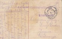 CRO837  --  K. U. K. LANDWEHRINFANTERIEREGI.  GRAVOSA Nr. 27  --  NACH FAMILY PRODAN, JANJINA, PELJESAC - Croatia