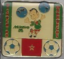 STK 2125 FMF.85. Pins Bienvenido. Mexico '86. Voetbal. Marruecos. Marokko. Voetbal. Pin's. Sporting. - Voetbal