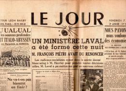 Le Jour Du Vendredi 7 Juin 1935 - General Issues