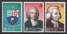 British Virgin Islands 2008 - Rev. Charles Wesley, Compositeur De L'hymne Nat. - 3v Neufs // Mnh - British Virgin Islands