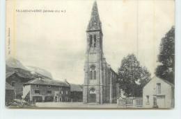 VILLARD D'ARENE  - L'Eglise.(dos Carte Publicitaire Laiterie Briançonnaise) - Francia