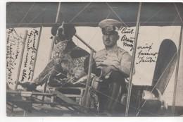 METZ : (57) Le Lieutenant BRAUN Et Son Chien En Avion   CARTE PHOTO 3/5/12 - Metz