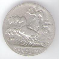REGNO D´ ITALIA - 1 Lira (1912)  VITTORIO EMANUELE III / AG SILVE - 1861-1946 : Regno