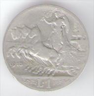 REGNO D' ITALIA - 1 LIRA (1913)  VITTORIO EMANUELE III AG SILVER - 1861-1946 : Regno