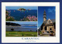 29 PLOUEZOC'H CARANTEC Château Du Taureau,Ile Louët, Golf Municipal,église ; Agapanthe (fleurs), Voiliers, église 3 Vues - Sin Clasificación