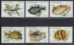 Sao Tome & Principe MNH Scott #548-#553 Set Of 6 Different Fish - Sao Tome Et Principe