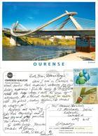 Puente Del Milenio Bridge, Ourense, Spain Espana Postcard Posted 2012 Nice Stamp - Orense