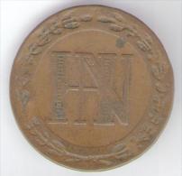 DEUTSCHLAND / Westfalen - Hieronymus Napoleon - 5 CENTIMES (1809) - [ 1] …-1871 : Stati Tedeschi