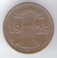 GERMANIA 1 RENTENPFENNIG 1923 - [ 3] 1918-1933 : Repubblica Di Weimar
