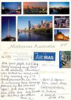 Melbourne, Victoria, Australia Postcard Posted 2008 Stamp - Melbourne