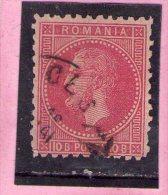 1879 - CHARLES I / Montrer Bucarest II  Mi No 51 Et Yv No 51 Rouge - 1858-1880 Fürstentum Moldau