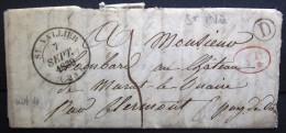 CACHET Type 14 + Boite Rurale  --  ST VALLIER   --  DROME  --  LAC  --  1839  --  INDICE 4+ - Storia Postale