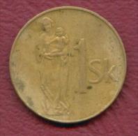 F2780 / - 1 Koruna - 1993 -  Slovakia Slovaquie Slowakei  - Coins Munzen Monnaies Monete - Slovaquie