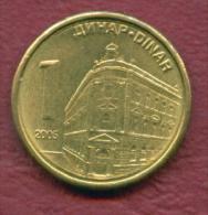 F2846A / - 1 Dinar -  2005 - NBS Serbia Serbien Serbie Servie - Coins Munzen Monnaies Monete - Serbia