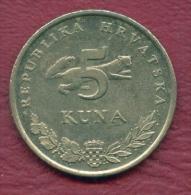 F2858 / - 5 Kuna -  2007 - Croatia Croatie Kroatien  - Coins Munzen Monnaies Monete - Croatia