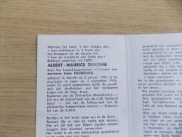 Doodsprentje Albert Maurice Demonie Wervik 3/1/1931 Ieper 5/9/1975 ( Anna Biesbrouck ) - Religión & Esoterismo