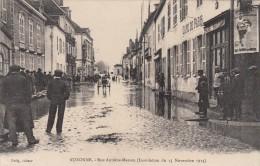 AUXONNE  RUE ANTOINE MASSON  Inondation Du 15 Novembre 1913 Café De Paris - Auxonne