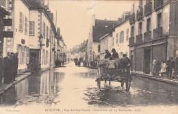 AUXONNE  RUE ANTOINE MASSON  Inondation Du 15 Novembre 1913  Traversée En Charrette - Auxonne