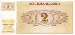 SLOVENIE   2 Tolarjev   Non Daté    Pick 2 A              ***** BILLET  NEUF ***** - Slovénie