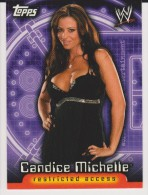 WWE Wrestling DIVAS 2006 Topps Card CANDICE MICHELLE Restricted Access - Trading Cards