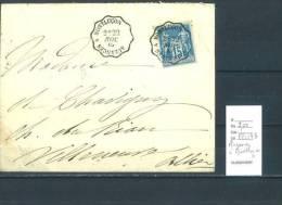 Lettre Cachet Convoyeur Auzances à Montluçon - Postmark Collection (Covers)