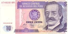PEROU   10 Intis   Daté Du 26-06-1987    Pick 129       ***** BILLET  NEUF ***** - Perú