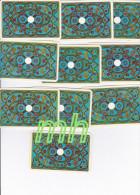 TAROT, DIVINATOIRE  ,VOYANCE, CARTOMANCIE , JEU DE 20 CARTES POINT UN ET DEUX SUR LA FACE 8,5 CmX 5 ,5 BON ETAT - Tarot-Karten