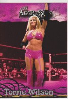 WWE 2003 Fleer Card TORRIE WILSON Sexy Outfit Wrestling Divas Aggression - Trading Cards