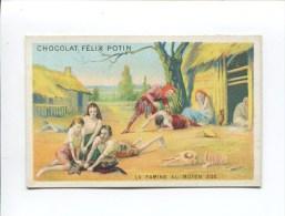 FELIX POTIN CHROMO HISTOIRE FRANCE  MOYEN AGE FAMINE FAIM - Félix Potin
