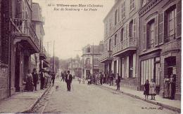 CPA 14 Villers Sur Mer Calvados Rue De Stasbourg La Poste - Villers Sur Mer