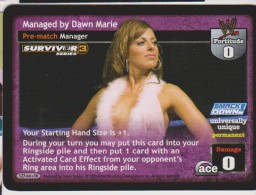 WWE Raw Deal 2005 Card Wrestling Diva DAWN MARIE Smackdown Survivor Series 3 - Trading Cards