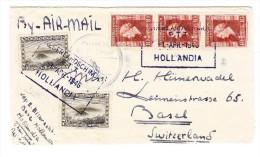 """Zensur-Brief 1946 Von Der """"Base Hollandia"""" Nach Basel CH - India Holandeses"""