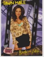 WWE 2002 Fleer Card DAWN MARIE Absolute Wrestling Divas Girls On Film - Trading Cards