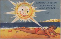 ALBI,  Carte à Système - Derrière Le Soleil Qui Me Brunit Vous Verrez... - Albi