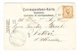 1902 AK (repariert) In Pristina Gesendet Mit Albanien Mi#36 In Der Besatzung Zeit Von Albanien - Montenegro