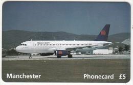 UK - Airworld Summer 1995, Airbus A320-180 Seater, BT Prepaid Card 5 Pounds, Tirage 2500, Exp.date 03/96, Mint - Aerei