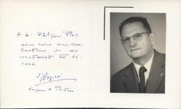 Carte Avec Photo De Mgr Rozier évêque De Poitiers - Autographes