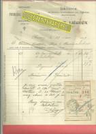70 - Haute-saône - CHASSEY-LES-MONTBOZON - Facture LIEGEON - Laiterie – 1919 - France