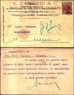 309)cartolina Postale E.ZANARDI E C.  DA MILANO A Riposto  Viaggiata 30CENT. - 1900-44 Vittorio Emanuele III