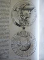 Médaille De Don Inigo D'Avalos , Par Pisano, Gravure De 1879 Avec Texte - Documents Historiques
